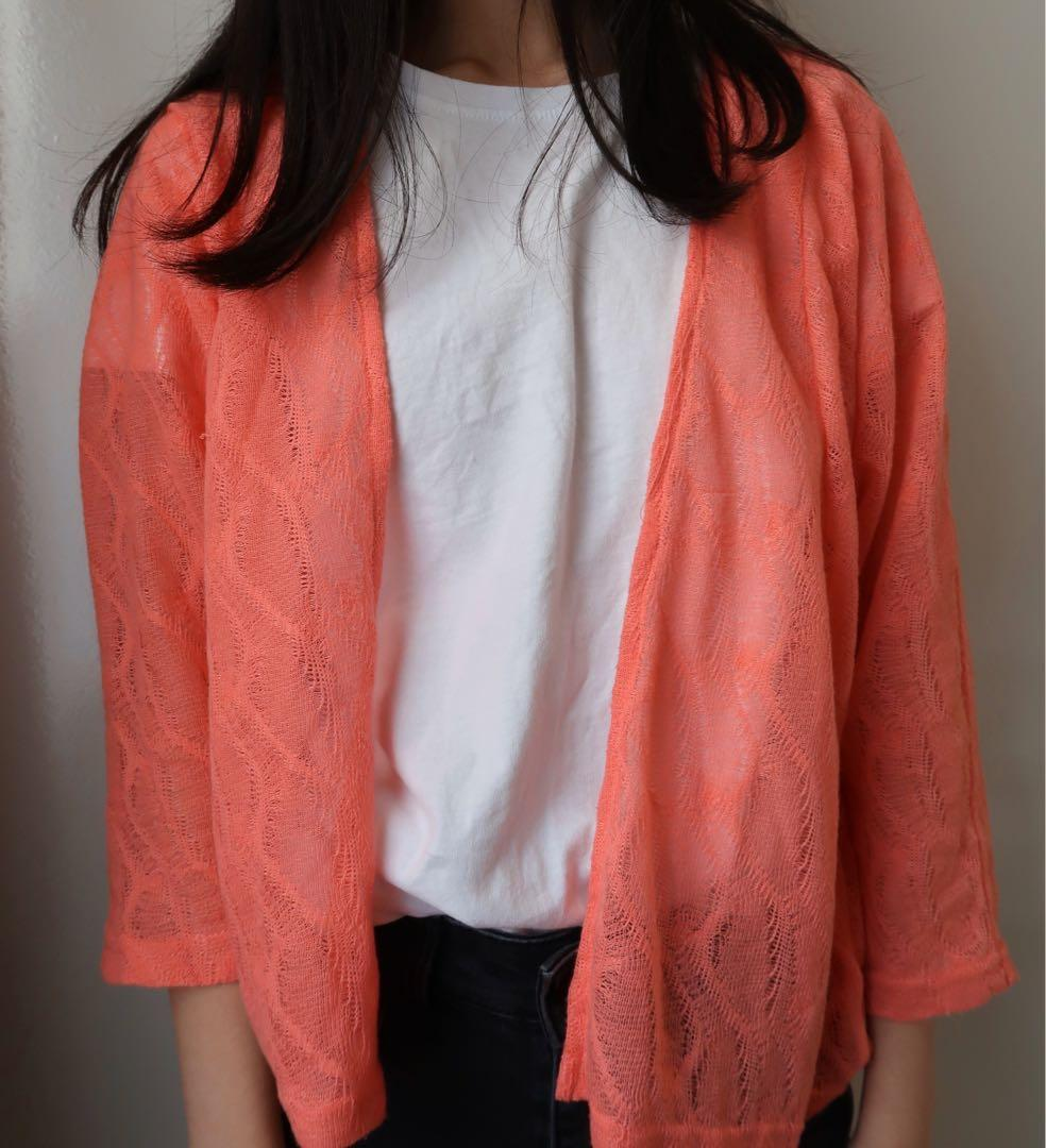 Size small: pink women's cardigan