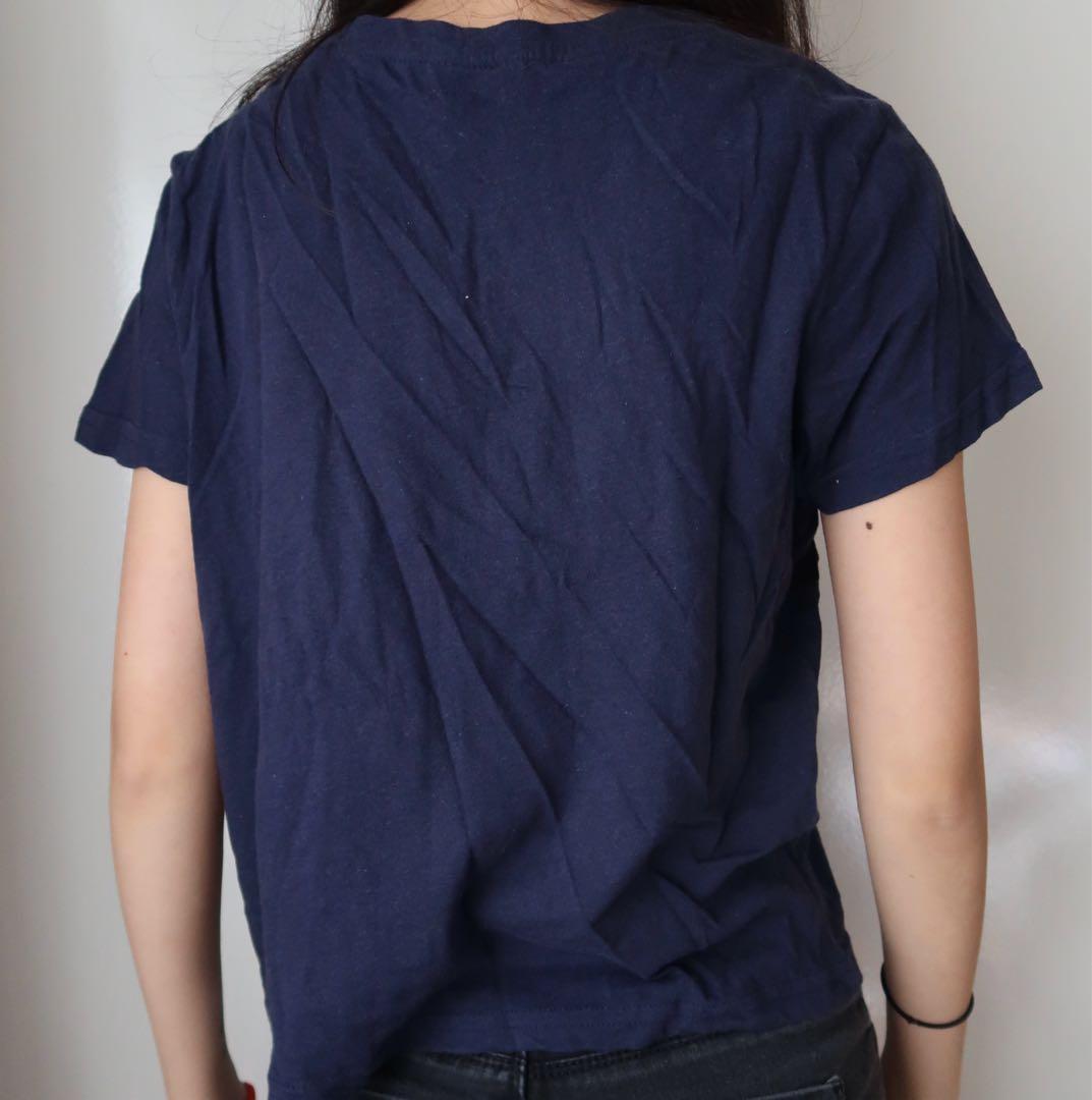 Size xs: blue crop top
