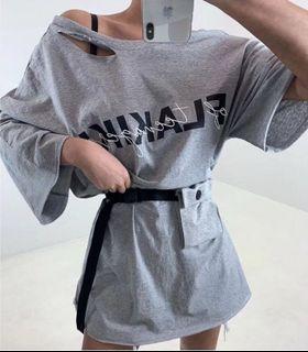 🇰🇷韓國空運預訂✈️個性休閒腰包開衩長袖T恤