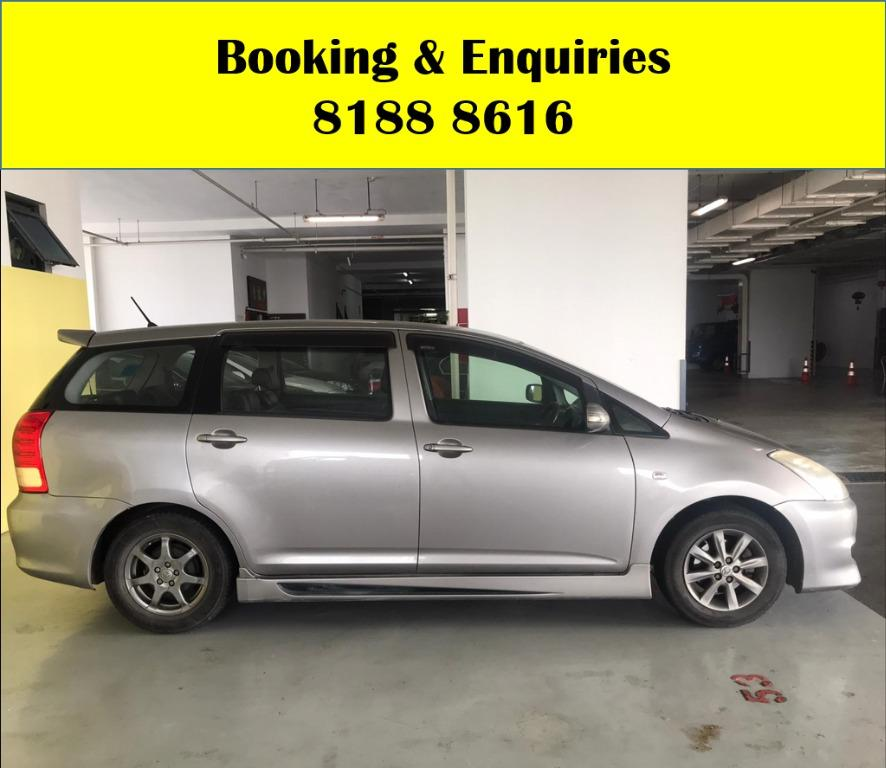 Toyota Wish CHEAPEST RENTAL WITH 50% OFF CIRCUIT BREAKER, Travel with a peace of mind with just $500 deposit driveaway. Whatsapp 8188 8616 now to enjoy special rates!!