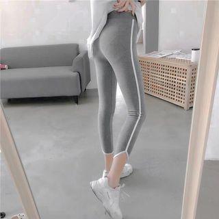 性感緊身灰色運動長褲健身