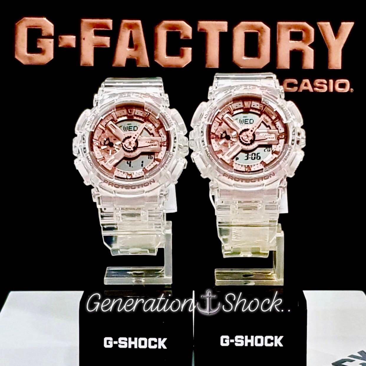 NEW🌟COUPLE💝SET : BABYG + GSHOCK DIVER UNISEX SPORTS WATCH  : 100% ORIGINAL AUTHENTIC CASIO BABY-G-SHOCK : GMA-S110SR-7A + GMA-S110SR-7ADR