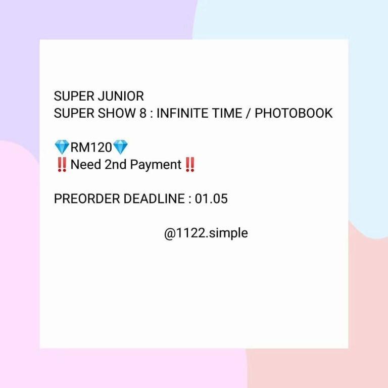 Super Junior Photobook [Super Show 8: Infinite Time]