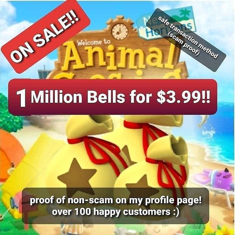 Animal Crossing New Horizons | Cheap and Instant bell delivery | 1 MILLION bell bundles available