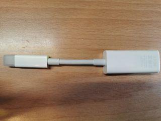 Apple 蘋果 Mini DisplayPort to Ethernet 網路 轉接頭