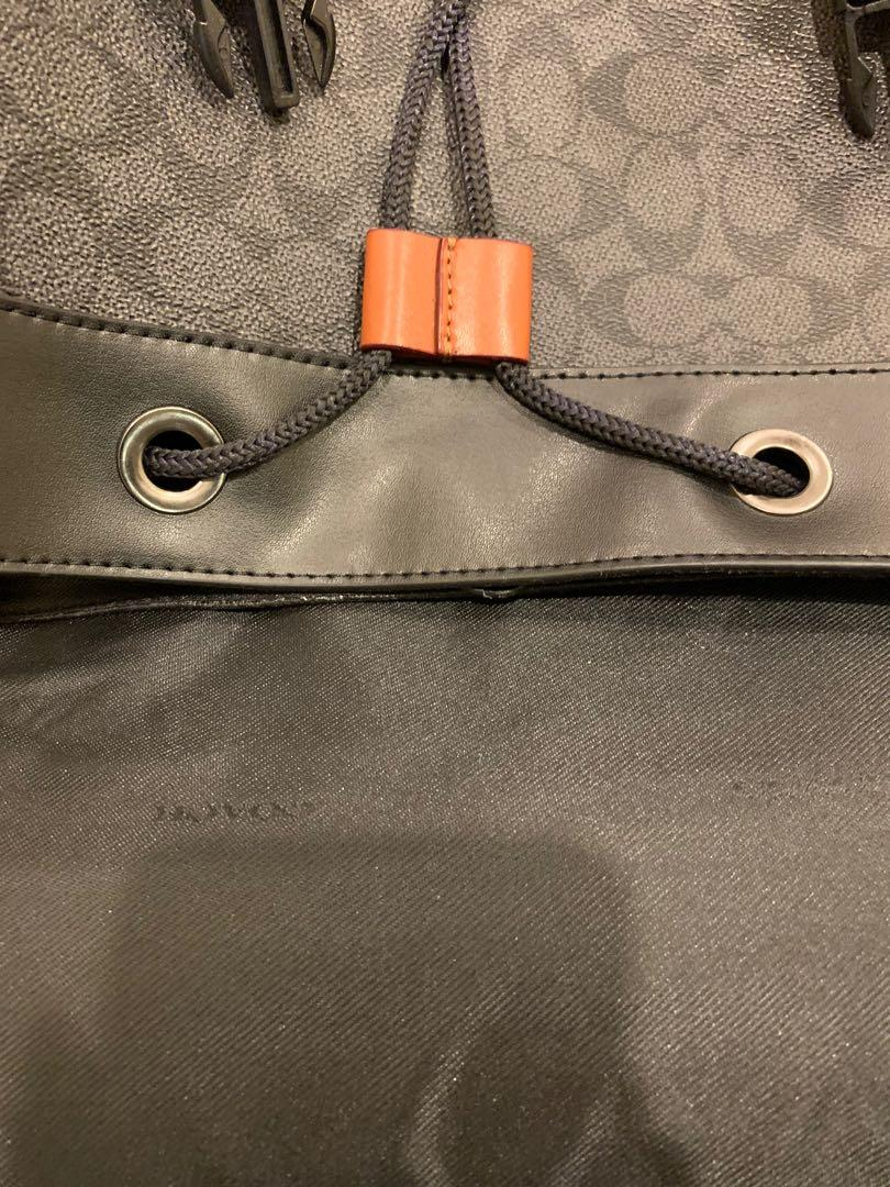 Authentic coach F79036 rivington backpack in signature canvas