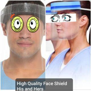 BUY1TAKE1 His and Hers Face Shield or Face Cover with FOAM High Quality Protection ❤ We accept bulk orders