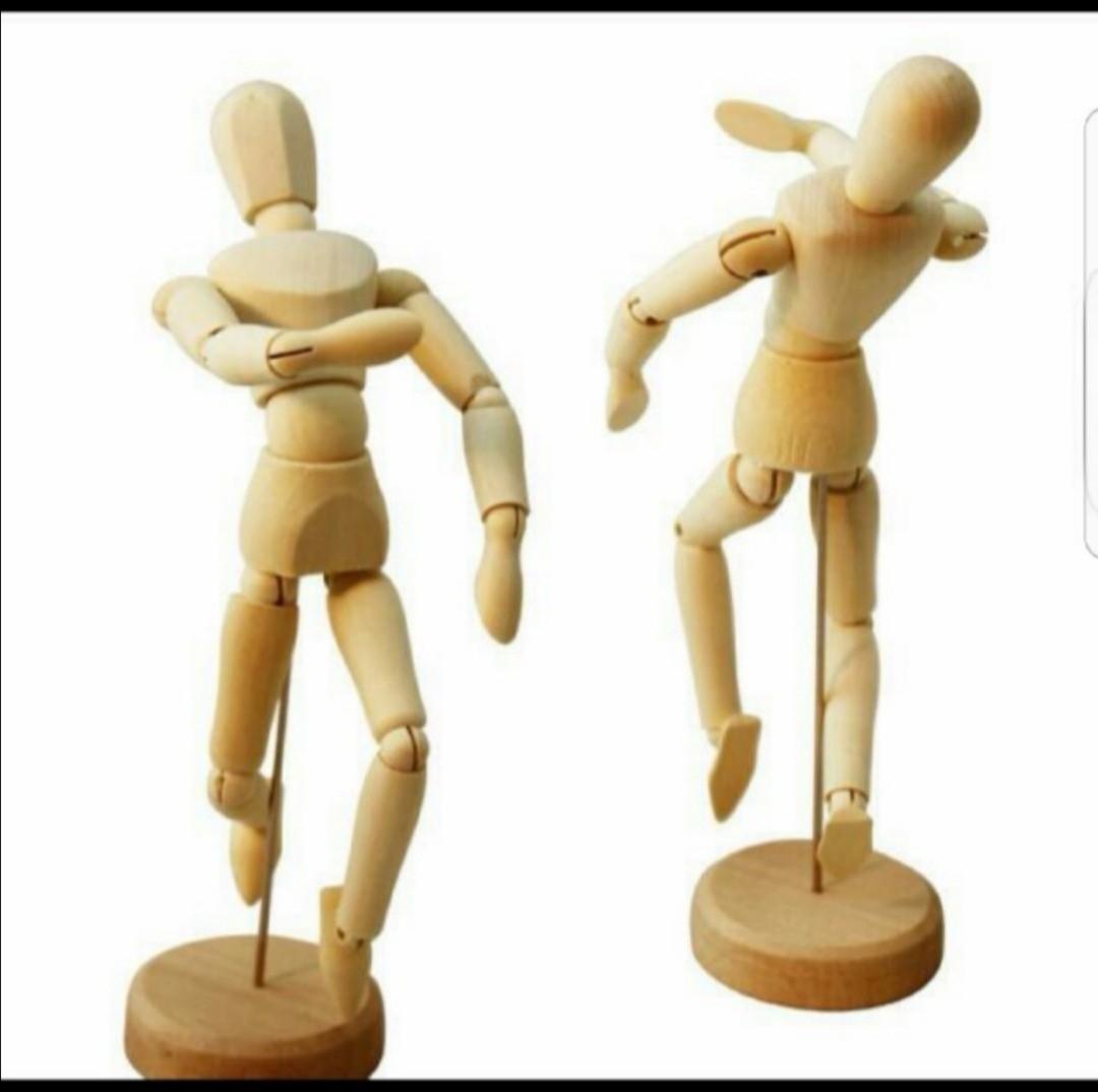 Human Figure Height 12 30cm Artist Drawing Comics Mannequin Body Model Design Craft Art Prints On Carousell
