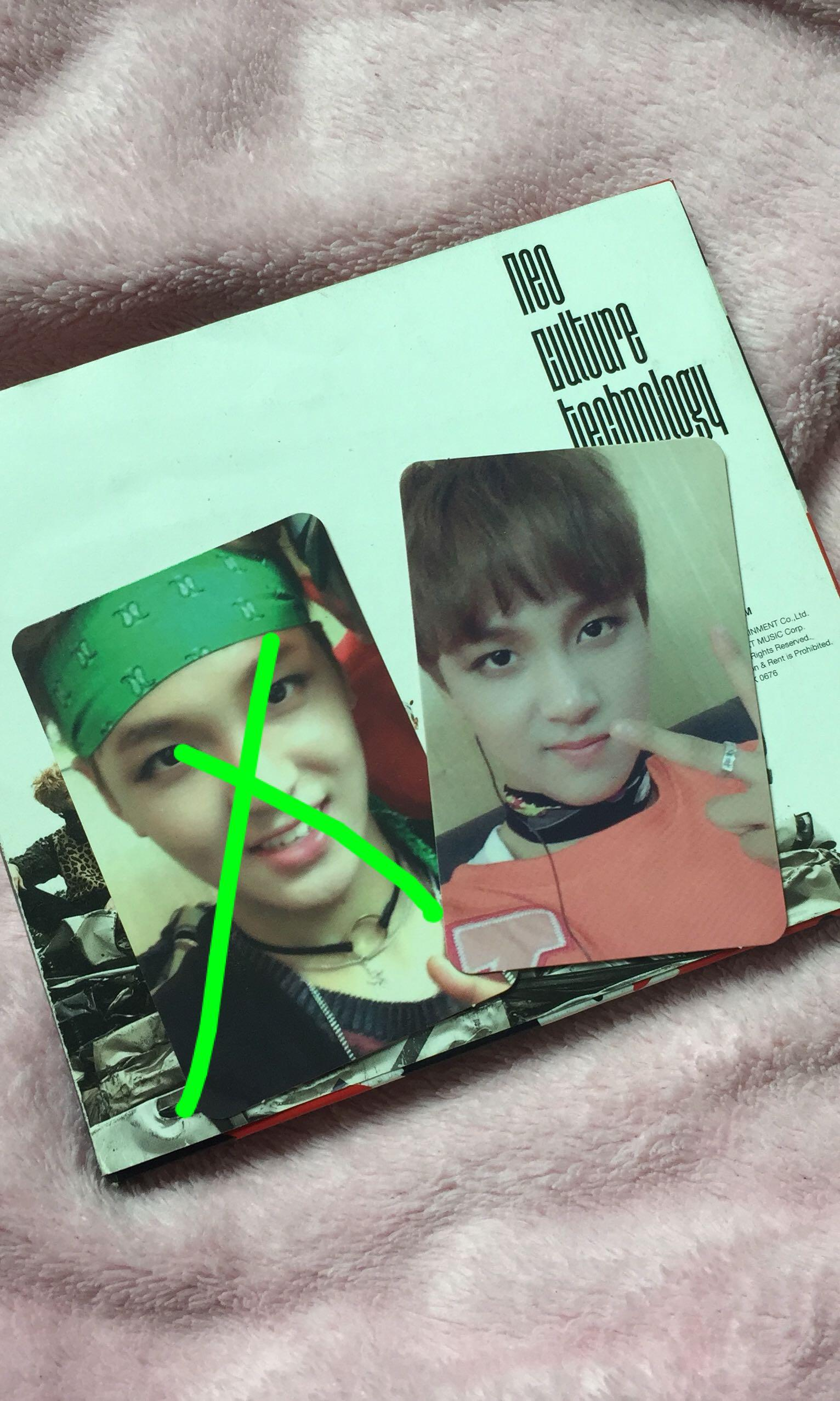 WTS NCT 127 HAECHAN FIRETRUCK PC AND SMROOKIES DOYOUNG PC