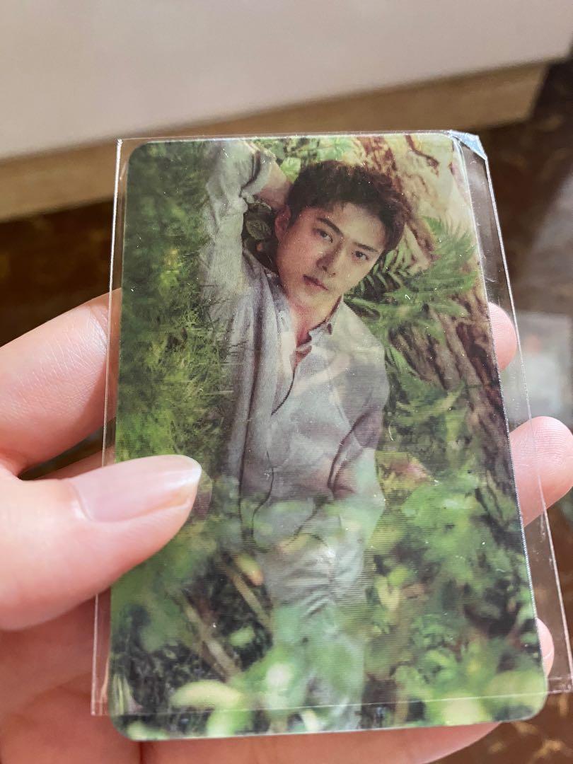 Photocard sehun exo nature republic lenticular hologram