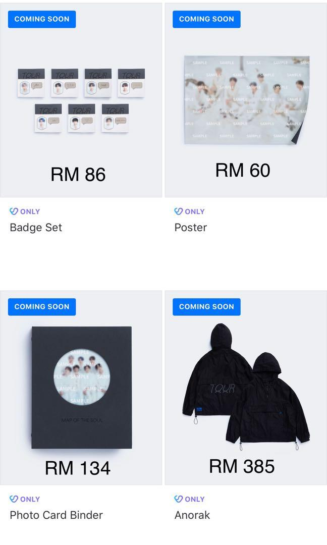 [Pre-Order / MY GO] BTS MAP OF THE SOUL TOUR Official Merch Collection