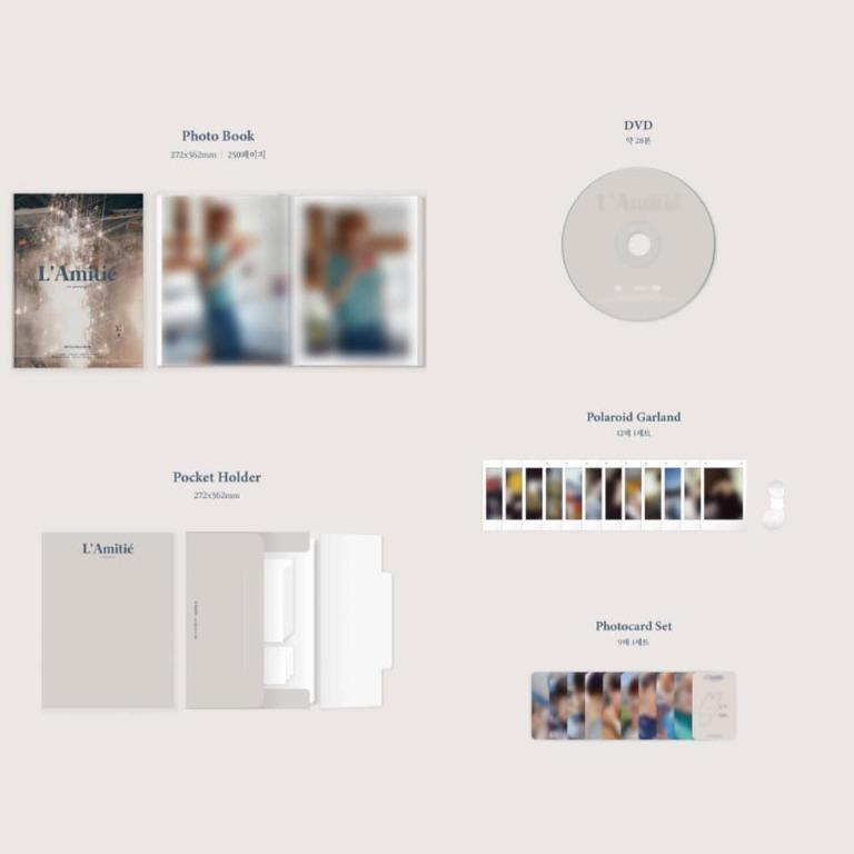 [Pre-order] SF9 1ST PHOTO BOOK <L'Amitié> : our glorious day