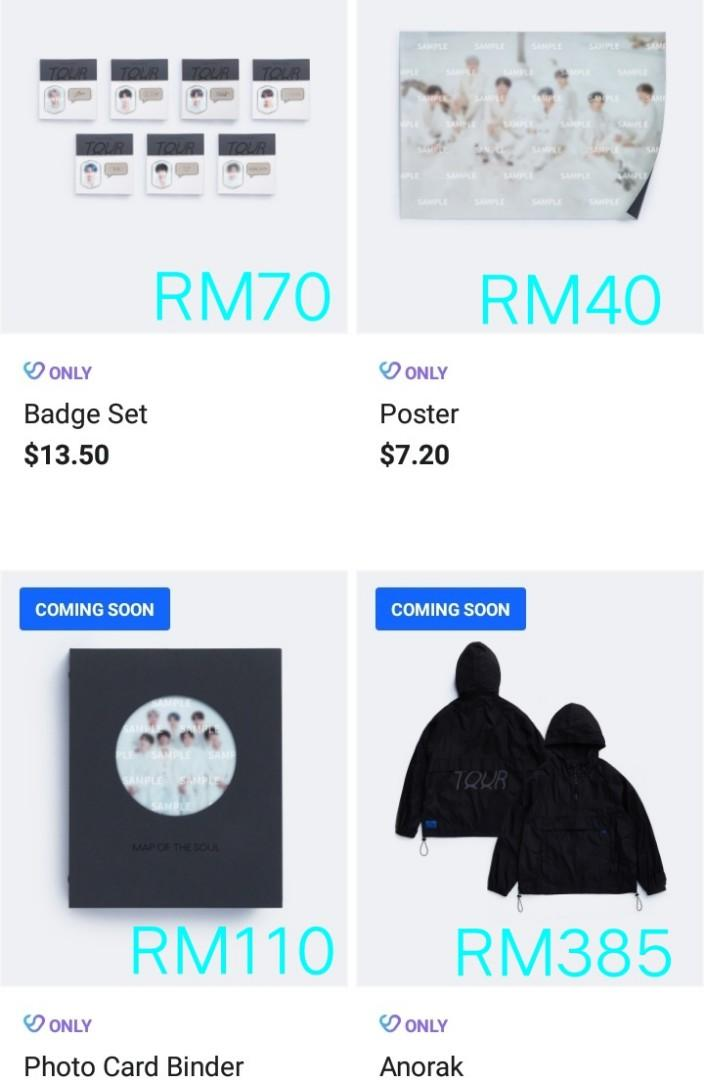 [QUICK ORDER] BTS MAP OF THE SOUL TOUR OFFICIAL MD