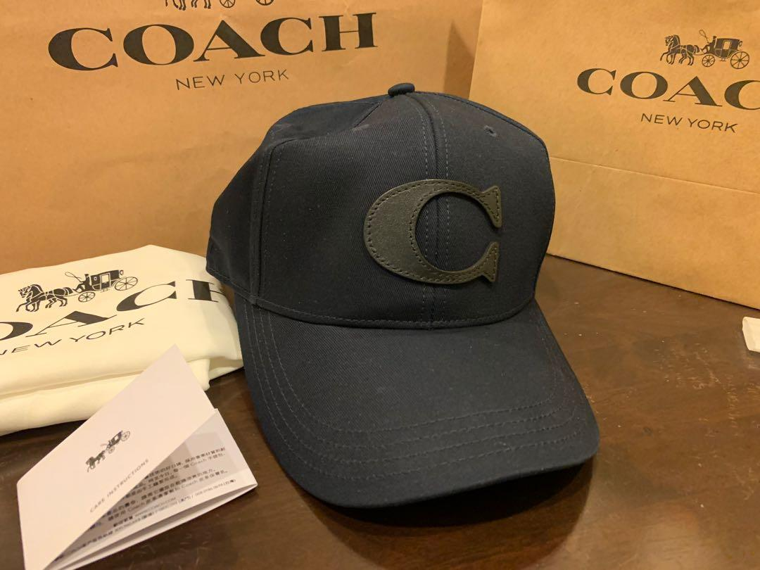 Ready Stock authentic coach baseball cap F75703 in navy