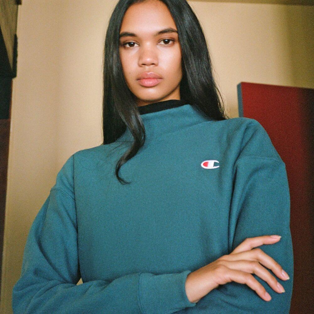 Urban outfitters champion reverse weave mock neck sweater
