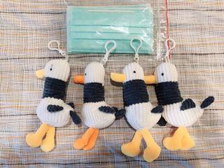 (送3口罩) 全新四隻海鷗鳥組合