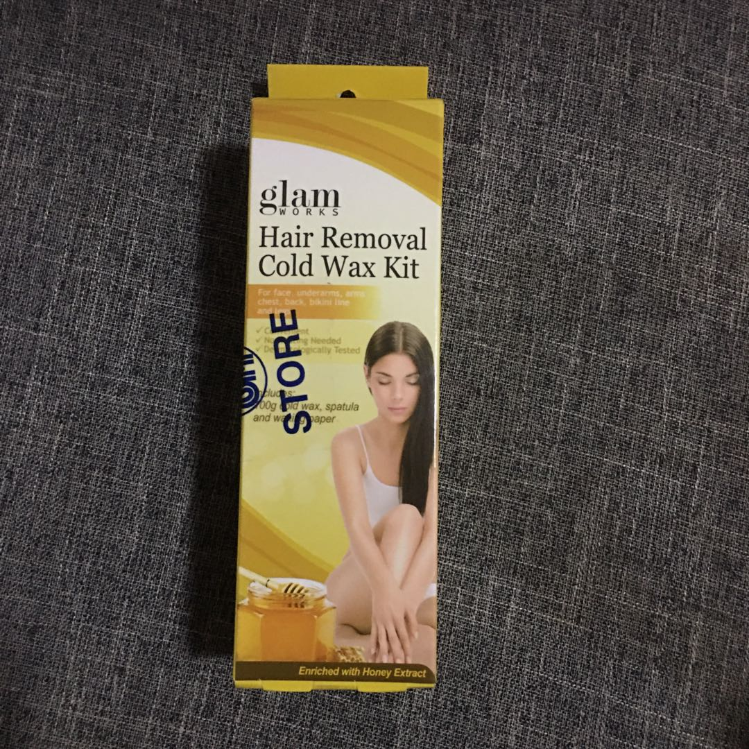 Repriced 700g Glam Works Hair Removal Cold Wax Kit Valued At
