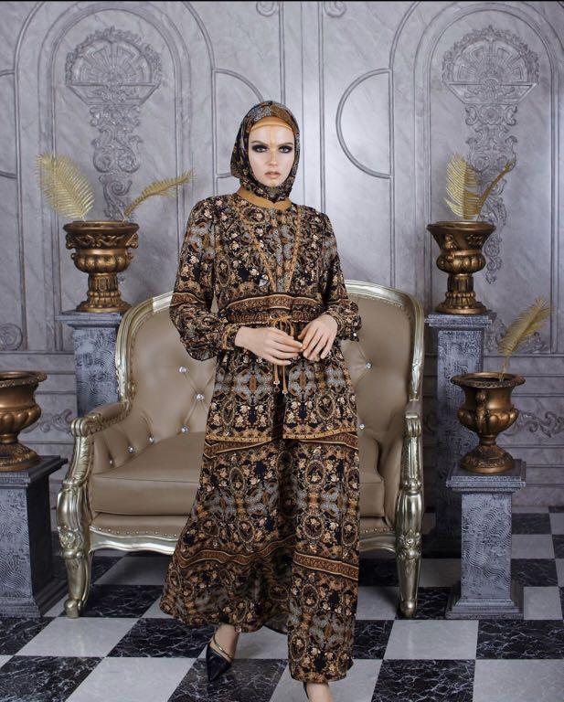 Abaya Hikmat Fesyen Wanita Pakaian Wanita Gaun Rok Di Carousell