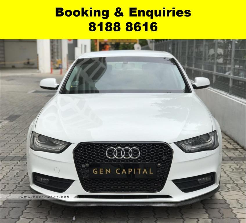 AUDI A4 CIRCUIT BREAKER EXTENDED? NOT TO WORRY! WE HAVE THE CHEAPEST RENTAL WITH 50% OFF DURING CIRCUIT BREAKER, just $500 deposit driveaway, No upfront rental required. Whatsapp 8188 8616 now to enjoy special rates!!