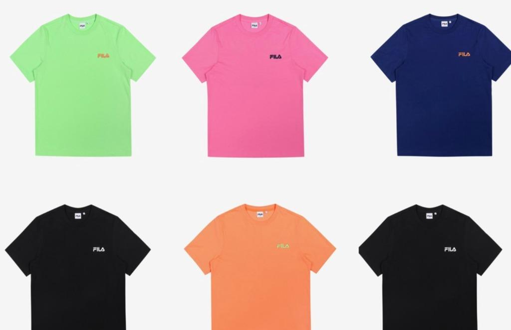 BTS Official Authentic Product FILA X BTS Colorful Summer Box Logo T-shirt