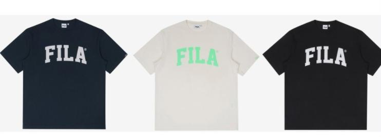 BTS Official Authentic Product FILA X BTS Colorful Summer Arch Logo T-shirt
