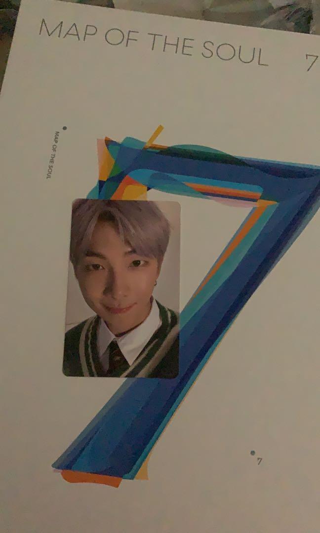 Jual photocard RM bts dari album map of the soul 7