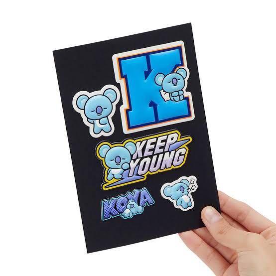 Koya RM BT21 / BTS customizing sticker Official Merchandise