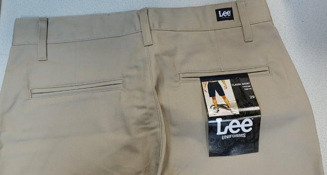 Lee Uniforms Mens Flat-Front Short
