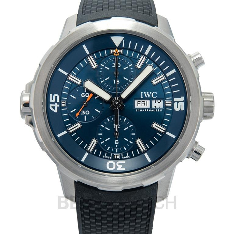 """[NEW] IWC Aquatimer Chronograph Edition """"Expedition Jacques-Yves Cousteau"""" Automatic Blue Dial Men's Watch IW376805"""