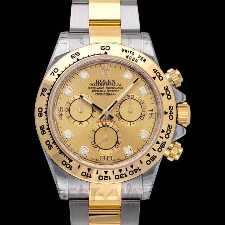 [NEW] Rolex Cosmograph Daytona 18ct Yellow Gold Automatic Champagne Dial Diamonds Men's Watch 116503 Champagne G