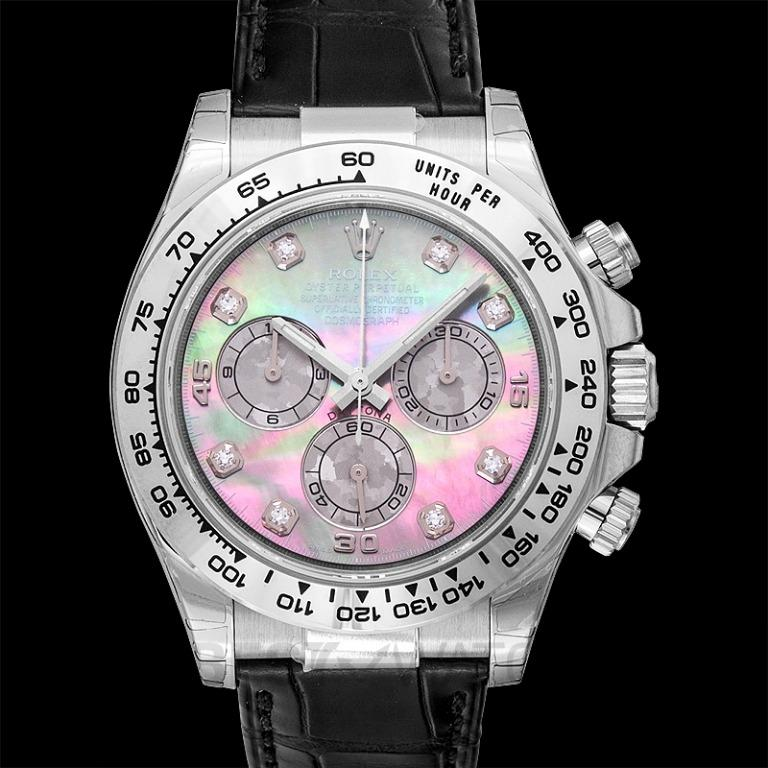 [NEW] Rolex Cosmograph Daytona 18ct White Gold Automatic Mother Of Pearl Dial Diamonds Men's Watch 116519-MOP-G