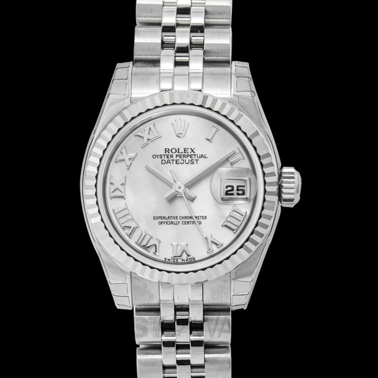 [NEW] Rolex Lady Datejust 26 White Mother-of-pearl Dial Stainless Steel Jubilee Bracelet Automatic Watch 179174/11