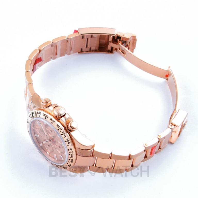 [NEW] Rolex Rolex Cosmograph Daytona Pink Gold Dial 18K Everose Gold Oyster Bracelet Automatic Men's Watch 116505PKDO 116505A/Pink with Baguette