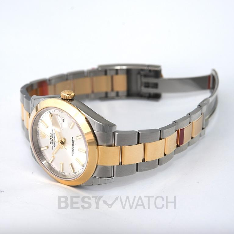 [NEW] Rolex Rolex Datejust 41 Silver Dial Steel and 18K Yellow Gold Oyster Bracelet Men's Watch 126303SSO 126303-0001