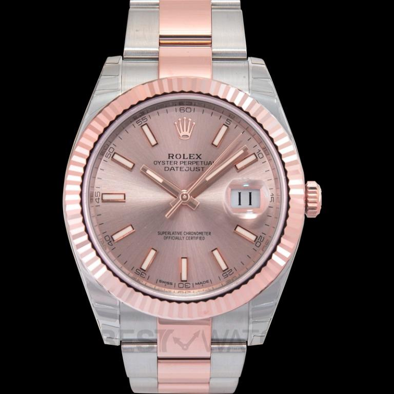 [NEW] Rolex Rolex Datejust 41 Sundust Dial Steel and 18K Everose Gold Men's Watch 126331SNSO 126331 Sundust Oyster