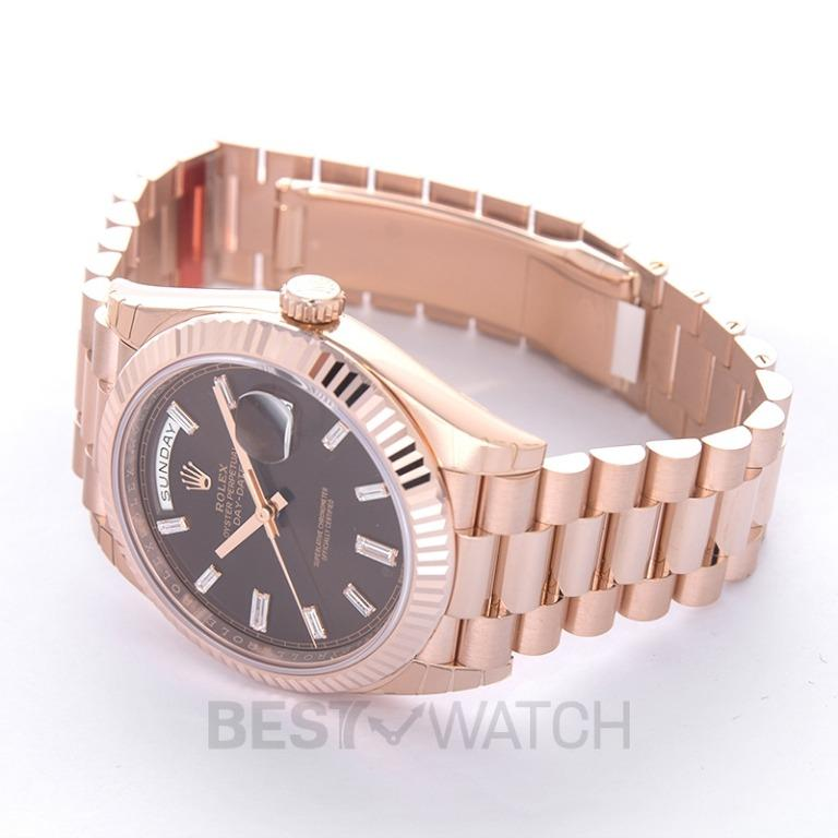 [NEW] Rolex Rolex Day-Date 40 Chocolate Dial 18K Everose Gold President Automatic Men's Watch 228235CHDP 228235-0003G