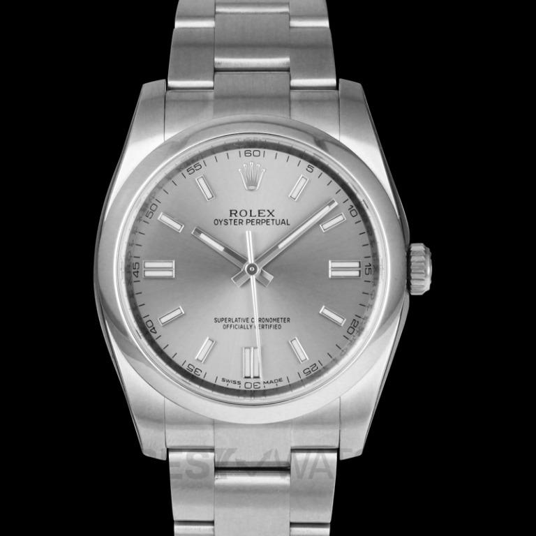 [NEW] Rolex Rolex Oyster Perpetual 36 mm Rhodium Dial Stainless Steel Bracelet Automatic Men's Watch 116000RSO 116000 Steel