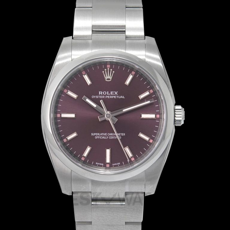 [NEW] Rolex Rolex Oyster Perpetual 34 Purple Grape Dial Stainless Steel Bracelet Automatic Unisex Watch 114200RGSO 114200-0020