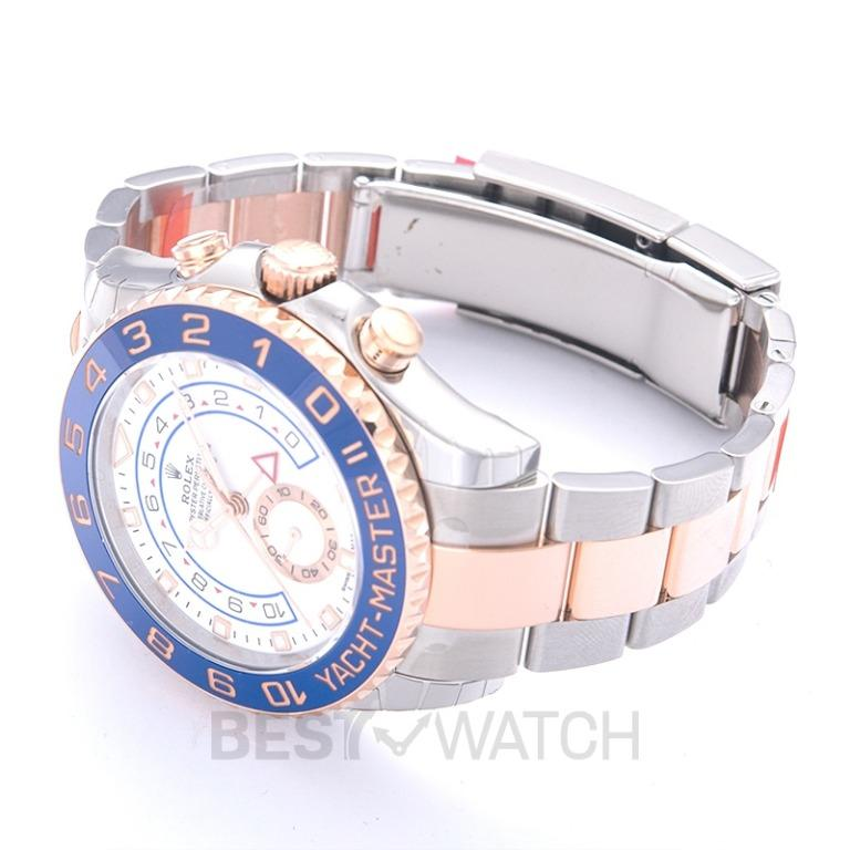 [NEW] Rolex Yacht-Master II (2017) 18K Everose Gold Automatic White Dial Oyster Bracelet Men's Watch 116681-0002