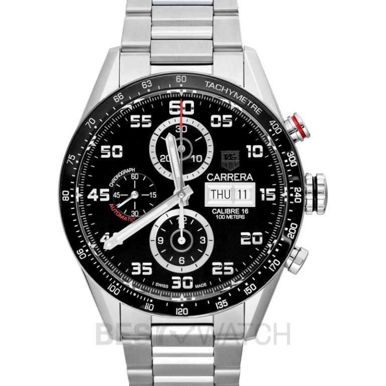 [NEW] TAG Heuer Carrera Carrera Calibre 16 Day-Date Automatic Chronograph Black Dial Men's Watch CV2A1R.BA0799