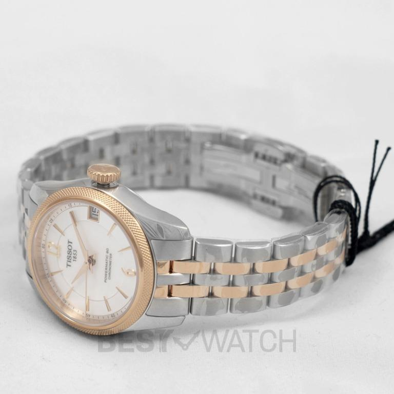 [NEW] Tissot T-Classic Ballade Powermatic 80 Cosc Lady Automatic Mother Of Pearl Dial Ladies Watch T108.208.22.117.01