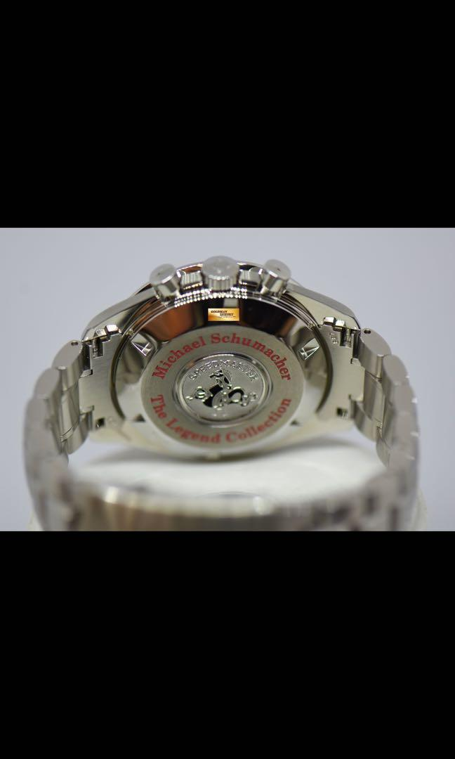 """OMEGA SPEEDMASTER CHRONOGRAPH """"MICHAEL SCHUMACHER"""" THE LEGEND COLLECTION RED DIAL 3506.61.00 AUTOMATIC (LNIB)"""