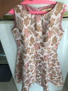 Pink gold flower dress