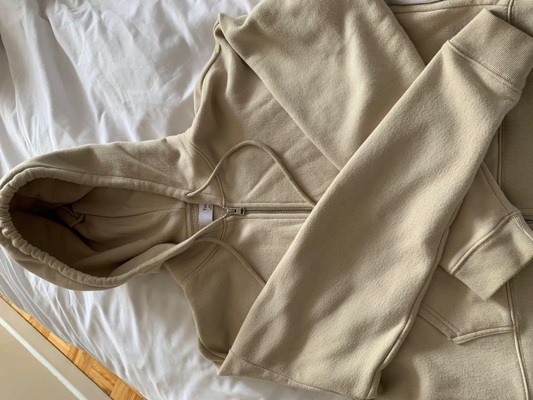 TNA beige  zip hoodie -size XS ( fits a bit oversized)