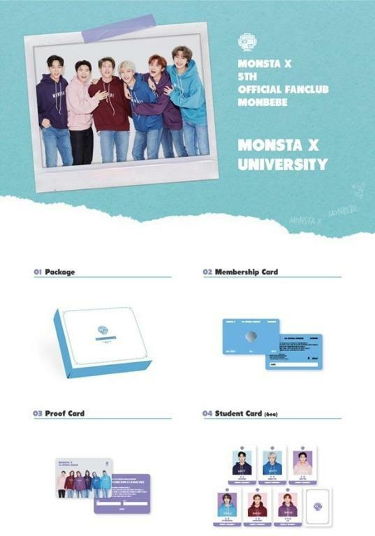 [UPCOMING READY STOCK] LOOSE ITEM MONSTA X 5th OFFICIAL FANCLUB KIT