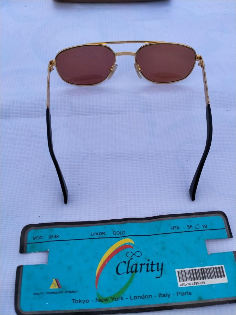 Vintage sunglasses 80s/U.S Army Military Pilot Sunglasses Brand : Clarity Size: 55-18