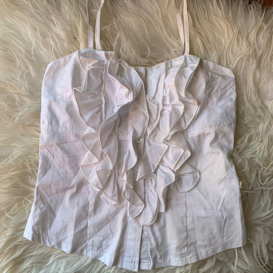 white corset style top