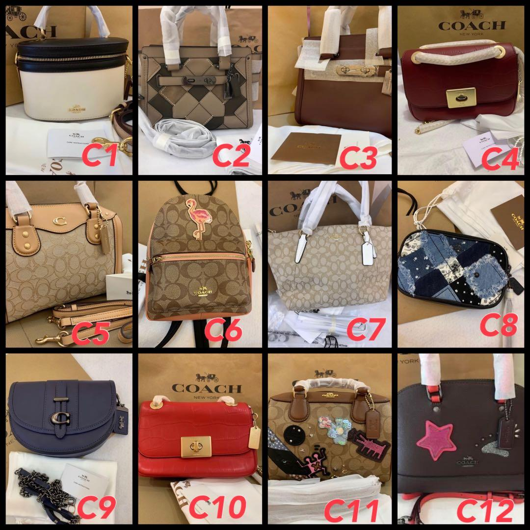 (22/04/20)Ready Stock authentic coach women wallet purse clutch sling bag lanyard card holder Kate spade backpack Marc Jacobs canera bag. Card holder clutch wristlet  belt bag backpack coach