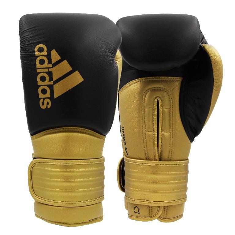 Intenso robo administración  Adidas Hybrid 300 Black/Gold Boxing Gloves 10oz & 12oz, Sports, Sports &  Games Equipment on Carousell