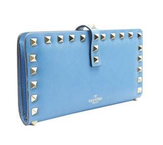 BRAND NEW Valentino Studded Blue Wallet GHW